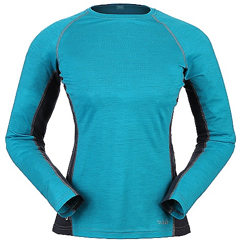On Sale. Free Shipping. Rab Women's MeCo 120 LS Tee FEATURES of the Rab Women's MeCo 120 Long Sleeve Tee Light-weight Merino Cocona fabric Flatlock low bulk seams Reflective branding Slim fit - $56.99