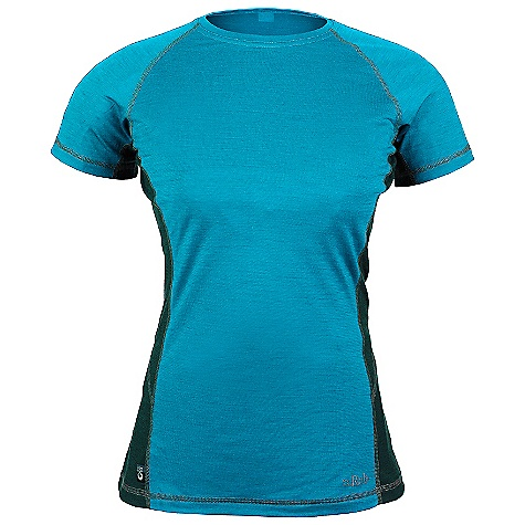 Free Shipping. Rab Women's MeCo 120 Tee DECENT FEATURES of the Rab Women's MeCo 120 Tee Merino Cocona fabric Flatlock low bulk seams Reflective branding Fit: Slim The SPECS Total Weight: 4 oz / 100 g Fabric: 120 g intimate blend of Merino Cocona polyester yarns (65% Merino / 35% Cocona) This product can only be shipped within the United States. Please don't hate us. - $65.00