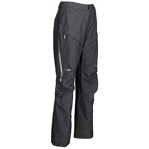 Free Shipping. Rab Women's Kickturn Pant DECENT FEATURES of the Rab Women's Kickturn Pant eVent 3L fabric Cordura fabric kick patches Side thigh vents with YKK Aquaguard zips YKK calendered fly zip with snap hook and eye closure Belt loops 2 thigh pockets with YKK calendered zips, storm flaps, mesh lining Articulated reinforced knees Hem drawcord Internal fixed gaiter Fit: Relaxed The SPECS Main Weight/m2: 112 g/m2 Main Comp: 100% nylon Kick Patches Weight/m2: 171 g/m2 Kick Patches Comp: 100% nylon Total Weight: 12 oz / 340 g Inside Leg Length: 30in. / 77 cm This product can only be shipped within the United States. Please don't hate us. - $325.00