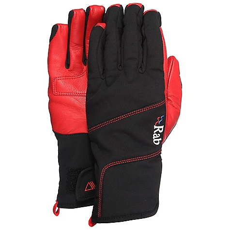 Free Shipping. Rab Men's Alpine Glove DECENT FEATURES of the Rab Men's Alpine Glove Polartec Power Shield Pro fabric Goat skin leather palm Wrap around palm design Angled cuff Velcro closure with low bulk gusset This product can only be shipped within the United States. Please don't hate us. - $70.00