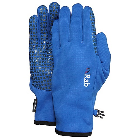 On Sale. Rab Men's Phantom Grip Glove FEATURES of the Rab Men's Phantom Grip Glove Polartec Wind Pro stretch with Hardface technology Grippy silicon palm print Seamless cuff construction Low bulk cuff construction with Lycra edging - $27.99