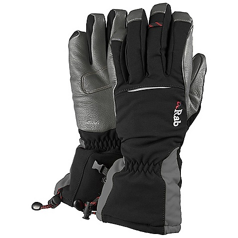 Free Shipping. Rab Icefall Gauntlet Glove DECENT FEATURES of the Rab Icefall Gauntlet Glove Event membrane Pittards Armortan palm Primaloft insulation on back of hand and palm Stretch softshell outer glove Leather reinforcement patch over critical seams Bemberg lining printed with Rab logo design Box finger pre-curved construction Drawcord cuff closure Back of thumb flocking patch Detachable wrist leashes The SPECS Weight: 5 oz / 133g/m2 Type: Primaloft This product can only be shipped within the United States. Please don't hate us. - $110.00