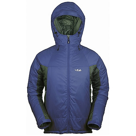 Free Shipping. Rab Men's Photon Jacket DECENT FEATURES of the Rab Men's Photon Jacket Pertex Microlight outer 100% nylon ripstop inner Primaloft Eco insulation Adjustable hood, wired peak, roll down Velcro tab YKK front zip, internal insulated zip baffle 2 YKK zipped A-line chest pockets 1 YKK zipped internal chest pocket, doubles as integrated stuff sack Velcro cuffs, hem drawcord Fit: Regular The SPECS Outer: Weight: 51g/m2 Inner: Weight: 35g/m2 Outer: Comp: 100% nylon 6 Inner: Comp: 100% nylon ripstop Insulation: Body: 133g/m2 (5oz) Insulation: Sleeves: 100g/m2 (4oz) Insulation: Hood: 60g/m2 (2oz) Type: Primaloft Eco Total Weight: 21 oz / 605 g This product can only be shipped within the United States. Please don't hate us. - $200.00