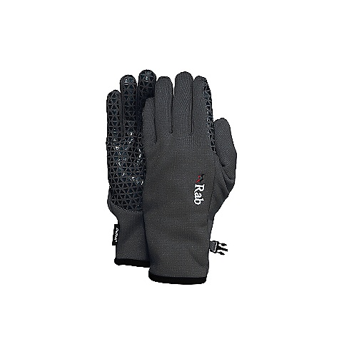 Rab Women's Phantom Grip Glove DECENT FEATURES of the Rab Women's Phantom Grip Glove Polartec Wind Pro stretch with Hardface technology Grippy silicon palm print Seamless cuff construction Low bulk cuff construction with Lycra edging This product can only be shipped within the United States. Please don't hate us. - $40.00