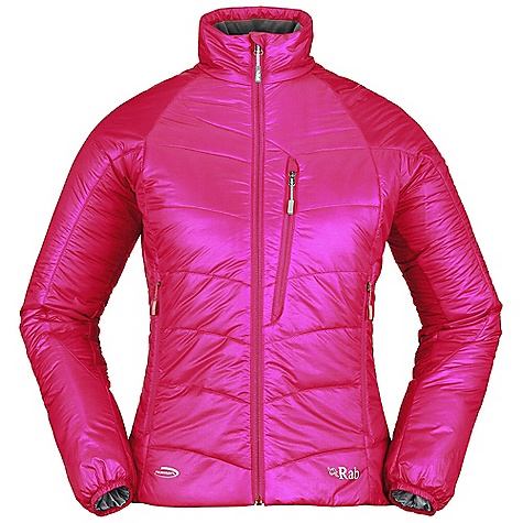 Free Shipping. Rab Women's Generator Jacket DECENT FEATURES of the Rab Women's Generator Jacket Pertex Quantum inner and outer Primaloft One insulation YKK front zip, internal insulated zip baffle 2 YKK zipped hand warmer pockets 1 YKK zipped chest pocket, doubles as integrated stuff sack Elasticated cuffs, hem drawcord Fit: Regular The SPECS Outer: Weight: 30g/m2 Inner: Weight: 35g/m2 Outer: Comp: 100% nylon 6 Inner: Comp: 100% nylon 6 Insulation: Body: 100g/m2 (4oz) Insulation: Sleeves: 60g/m2 (2oz) Type: Primaloft One Total Weight: 12 oz / 335 g This product can only be shipped within the United States. Please don't hate us. - $190.00