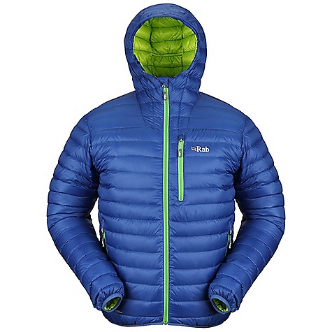Free Shipping. Rab Men's Microlight Alpine Jacket DECENT FEATURES of the Rab Men's Microlight Alpine Jacket Mini stitch-through baffle construction Down filled hood YKK front zip, internal insulated zip baffle, chin guard 2 YKK zipped hand warmer pockets 1 YKK zipped chest pocket, doubles as integrated stuff sack Lycra bound hem/cuffs Fit: Slim The SPECS Weight: 12 oz / 345 g Outer Weight/m2: 50g/m2 Outer Comp: 100% nylon 6 Insulation Fill Power: 760 Insulation Weight: (L): 5 oz / 140 g, European Goose Down This product can only be shipped within the United States. Please don't hate us. - $240.00