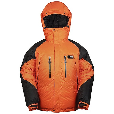 Free Shipping. Rab Men's Summit Batura Jacket DECENT FEATURES of the Rab Men's Summit Batura Jacket Pertex Shield taped outer 100% nylon tactel taffeta inner 800FP European Goose Down - hand filled in Derbyshire UK Narrow box wall construction Down filled hood, helmet compatible, wired peak 2-way YKK front zip, internal insulated zip baffle, external storm flap 2 YKK zipped chest pockets, extrenal storm flap 2 YKK Aquaguard zipped Napoleon pockets 2 large internal mesh pockets Velcro cuffs, hem drawcord Stuff sack Hand filled in Derbyshire UK Fit: Relaxed The SPECS Outer: Weight: 65g/m2 Contrast: Weight: 128.4g/m2 Inner: Weight: 53g/m2 Outer: Comp: 100% nylon 6 Contrast: Comp: 100% nylon 6 Inner: Comp: 100% nylon tactel taffeta Insulation: Fill Power: 800 Insulation: Weight: (L): 11 oz / 325 g Type: European Goose Down Total Weight: 45 oz / 1285 g This product can only be shipped within the United States. Please don't hate us. - $600.00