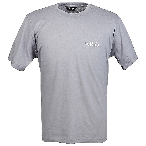 Climbing Rab Men's Renaissance Tee DECENT FEATURES of the Rab Men's Renaissance Tee 100% cotton Fabric is made using organic certified yarn - to the GOTS Standard and approved by Control Union Certifications b.v. Climbing hardwear print on back Fit: Regular The SPECS Weight: 200g/m2 Comp: 100% cotton This product can only be shipped within the United States. Please don't hate us. - $30.00