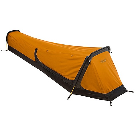 Camp and Hike Free Shipping. Rab Ridge Raider Tent DECENT FEATURES of the Rab Ridge Raider Tent 3L 40d eVent fabric 1 person 2 external poles Tunnel design 8mm DAC Pressfit Poles 1 guyline connection 1x 2.5mm polyester guyline ropes Door can convert into an awning Left side door entry Left side mesh door Bathtub floor 7 V stakes The SPECS Total Weight: 41 oz / 1160 g Dimension (W x L x H): 31.5 x 100.4 x 23.6in. / 80 x 255 x 60 cm Packed size: 12 x 6in. / 30 cm x 16 cm This product can only be shipped within the United States. Please don't hate us. - $360.00