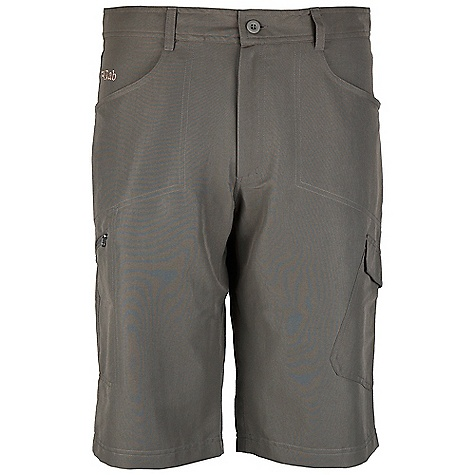 Free Shipping. Rab Men's Hueco Shorts DECENT FEATURES of the Rab Men's Hueco Shorts Matrix SWS fabric Belt loops Button at fly Fixed waistband Diamond gusset 2 rear open patch pockets 1 YKK zipped thigh pocket 1 cargo thigh pocket 2 jeans style back pockets Fit: Regular The SPECS Inside Leg Length: L: 15in. / 37.5 cm Weight: 172g/m2 Comp: 96% nylon / 4% spandex Total Weight: 10 oz / 290 g This product can only be shipped within the United States. Please don't hate us. - $60.00