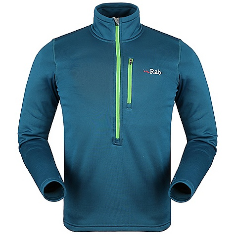 Free Shipping. Rab Men's PS Zip Top DECENT FEATURES of the Rab Men's PS Zip Top Polartec Power Stretch fabric YKK deep venting chest zip, chin guard Flatlock low bulk seams High collar Thumb loops 1 YKK zipped chest pocket Fit: Slim The SPECS Weight/m2: 230g/m2 Comp: 88% polyester, 12% spandex Total Weight: 13 oz / 330 g This product can only be shipped within the United States. Please don't hate us. - $100.00
