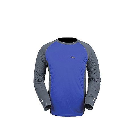 Free Shipping. Rab Men's LS Aeon Tee FEATURES of the Rab Men's Long Sleeve Aeon Tee Polyester hi-guage knit Polygiene Stay Fresh odour control treatment Flatlock low bulk seams Super fast drying Reflective trim details 30+ UPF Regular fit - $49.95