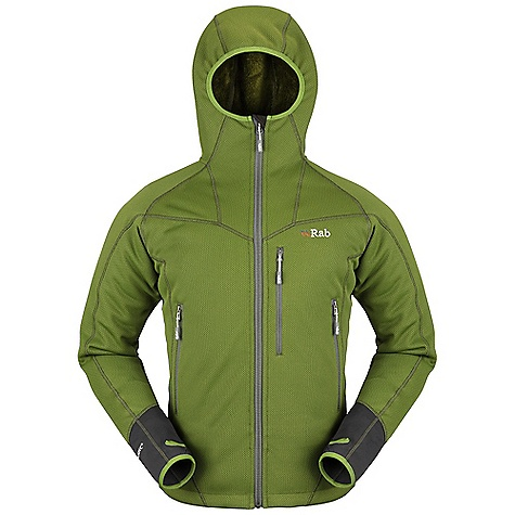 Free Shipping. Rab Men's Logan Jacket DECENT FEATURES of the Rab Men's Logan Jacket Lycra bound under helmet hood YKK front zip, internal storm flap, chin guard Flatlock low bulk seams 2 YKK zipped A-line pockets 1 YKK zipped chest pocket Lycra bound cuffs, thumb loops Hem drawcord Fit: Regular The SPECS Weight: 27 oz / 760 g Main Weight/m2: 373g/m2 Main Comp: 100% Polyester Cuffs Weight/m2: 298g/m2 Cuffs Comp: 90% polyester, 10% spandex This product can only be shipped within the United States. Please don't hate us. - $179.95