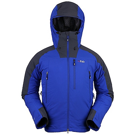 Free Shipping. Rab Men's Vapour-Rise Guide Jacket DECENT FEATURES of the Rab Men's Vapour-Rise Guide Jacket Pertex Equilibrium outer fabric Matrix DWS contrast fabric Polartec hi-loft fleece drop liner Wicking micro fleece drop liner on under arms and back Helmet compatible hood, wired peak, roll down Velcro tab 2-way YKK front zip, internal storm flap, chin guard 2 YKK zipped A-line chest pockets 1 YKK zipped deep Napoleon pocket (will hold OS map) 2 YKK zipped internal pockets YKK pit zips Velcro cuffs, hem drawcord Reflective trim Fit: Regular The SPECS Outer Weight: 115g/m2 Outer Comp: 100% nylon Shoulders Weight: 182g/m2 Shoulders Comp: 90% nylon 66 / 10% spandex Liner Weight: 176g/m2 Liner Comp: 100% Polyester hi-loft Grid Under Arms and Back Liner Weight: 105g/m2 Under Arms and Back Liner Comp: 100% Polyester Total Weight: 30 oz / 840 g This product can only be shipped within the United States. Please don't hate us. - $200.00