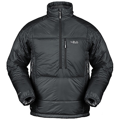 Free Shipping. Rab Men's Generator Pull-on DECENT FEATURES of the Rab Men's Generator Pull-on Revised styling Revised fabric Deep YKK chest zip, internal insulated zip baffle 2 YKK zipped hand warmer pockets, 1 YKK zipped chest pocket, doubles as integrated stuff sack Elasticated cuffs, hem drawcord The SPECS Weight: 13 oz / 365 g Fit: Regular Outer Weight/m2: 30g/m2 Inner Weight/m2: 35g/m2 Outer Comp: 100% nylon 6 Inner Comp: 100% nylon 6 Insulation: Body: 100g/m2 (4oz) 60g/m2 (2oz) This product can only be shipped within the United States. Please don't hate us. - $165.00