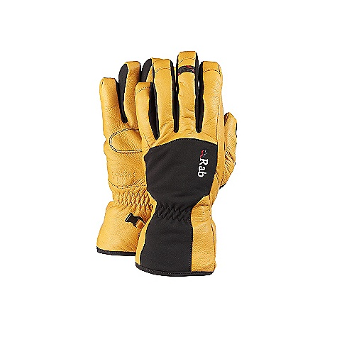Free Shipping. Rab Guide Glove DECENT FEATURES of the Rab Guide Glove Event membrane Pittards Armortan palm Stretch softshell outer Leather reinforcement on cuff, back of hand and over critical seams High pile lining on back of hand Bemberg palm lining printed with Rab logo design Box finger pre-curved construction Back of thumb flocking patch Detachable wrist leashes This product can only be shipped within the United States. Please don't hate us. - $110.00