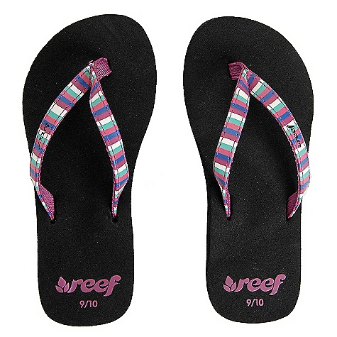 Entertainment On Sale. Reef Girls' Little Uptown Sandals DECENT FEATURES of the Reef Girls' Little Uptown Sandals Synthetic strap in various exotic patterns with soft woven polyester lining Eva footbed with anatomical arch support Rubber sponge outsole for flexibility - $8.99