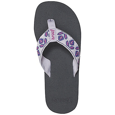 Entertainment On Sale. Reef Women's Reef Lily Sandal DECENT FEATURES of the Reef Women's Reef Lily Comforatable mid-width polyester strap with woven tulip design Brushed EVA footbed for traction Reef-flex triple density EVA construction Durable, high density EVA sole This style has been known to run small, so if you are in between sizes we suggest sizing up - $16.99