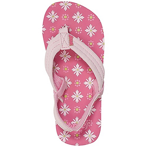 Entertainment Reef Girls' Little Ahi Sandal Decent features of the Reef Girls' Little Ahi Synthetic strap with soft polyester lining for comfort Printed contoured EVA footbed First 4 sizes come with a removable synthetic backstrap Durable high density EVA outsole - $19.95