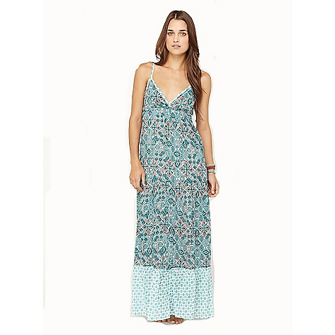 "Entertainment On Sale. Free Shipping. Roxy Women's For Shore Dress DECENT FEATURES of the Roxy Women's For Shore 100% Cotton voile Triangle top maxi dress with peek a boo opening at the back Adjustable straps Fully lined 58""hps - $33.99"