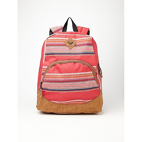 "Camp and Hike On Sale. Roxy Fairness Backpack DECENT FEATURES of the Roxy Fairness Backpack Backpack with faux suede trimming Contrast zippers Logo patch Interior organization The SPECS 100% polyester 16""h x 12""w x 5""d - $35.99"