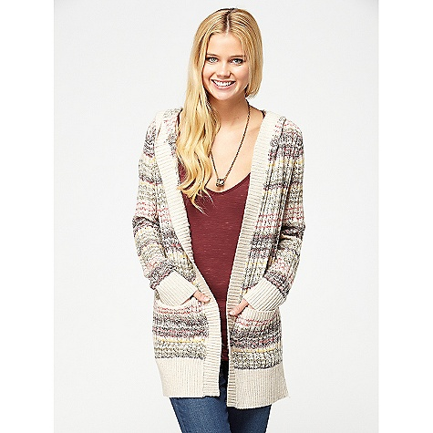 Surf On Sale. Free Shipping. Roxy Women's Elderberry DECENT FEATURES of the Roxy Women's Elderberry 5gg pointelle knit hooded open cardigan The SPECS 65% cotton 35% acrylic 27.5in. hps - $39.99
