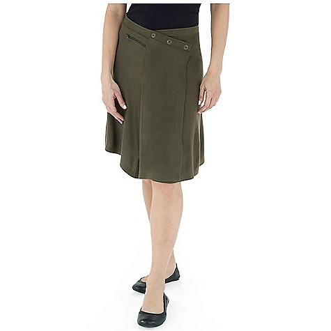 Entertainment Free Shipping. Royal Robbins Women's Enroute Skirt DECENT FEATURES of the Royal Robbins Women's Enroute Skirt UPF 50+ Logo ring snap front closure Wrap front with asymmetric front panel Zip secured pocket The SPECS Natural fit Length: 21in. Fabric: Winter Wool Blend - $69.95