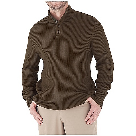 Entertainment Free Shipping. Royal Robbins Men's Quebec Button Mock Top DECENT FEATURES of the Royal Robbins Men's Quebec Button Mock Top 7in. Twill placket All over 2x2 rib Contrast stripe detail inside neck Straight hem The SPECS Traditional fit Fabric: Spruce Yarn - $79.95
