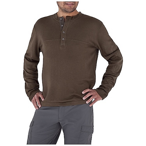 Entertainment Free Shipping. Royal Robbins Men's The Duke Henley Top DECENT FEATURES of the Royal Robbins Men's The Duke Henley Top UPF 50+ Double layer elbow patches The SPECS Contemporary fit Length: 9in. Placket Fabric: Winter Wool Blend - $79.95
