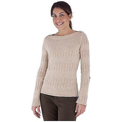 Entertainment Free Shipping. Royal Robbins Women's Highland Pullover DECENT FEATURES of the Royal Robbins Women's Highland Pullover Boat neck Reverse jersey strip Roll-up sleeve tabs The SPECS Length: 26in. Natural fit Fabric: Highland Yarn - $67.95