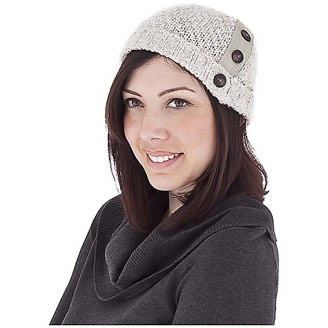 Entertainment Royal Robbins Women's Helium Hat with Brim DECENT FEATURES of the Royal Robbins Women's Helium Hat with Brim Rib at brim Woven patch trim with buttons Moss stitch The SPECS Fabric: Scotia Yarn - $31.95