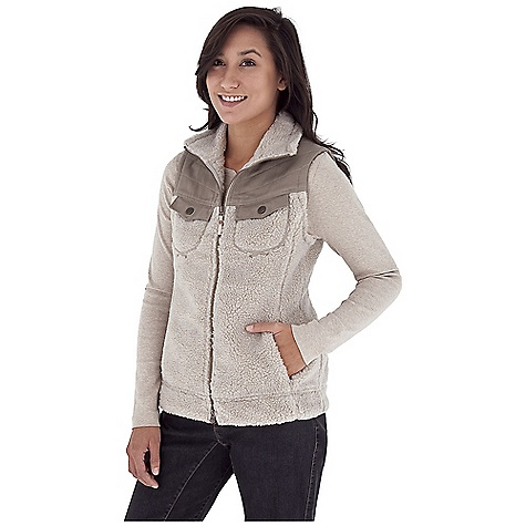 Entertainment Free Shipping. Royal Robbins Women's Tumbled About Vest DECENT FEATURES of the Royal Robbins Women's Tumbled About Vest Full zip through collar Stretch canvas at yoke and pocket trim Snap secure chest pockets Zip secured hand warmer pockets Grosgrain pull with logo rivet Locker loop at back with logo rivet Hip length The SPECS Natural fit Fabric: Tumbled Sherpa Fleece - $84.95