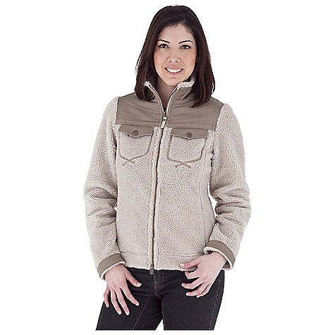 Entertainment Free Shipping. Royal Robbins Women's Tumbled About Jacket DECENT FEATURES of the Royal Robbins Women's Tumbled About Jacket Full zip through collar Stretch canvas at yoke, pocket trim, cuff and hem tabs Snap secure chest pockets Zip secured hand warmer pockets Tab adjustment at straight hem Grosgrain pull with logo rivet Locker loop at back with logo rivet Hip length The SPECS Natural fit Fabric: Tumbled Sherpa Fleece - $114.95