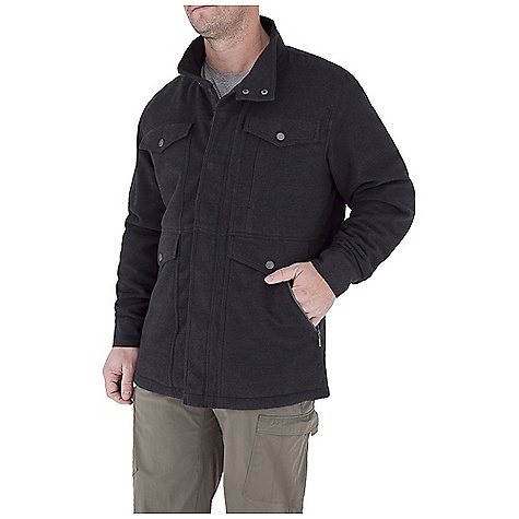 Entertainment Free Shipping. Royal Robbins Men's Jeremiah Jacket DECENT FEATURES of the Royal Robbins Men's Jeremiah Jacket Four large drop-in pockets on front panel External zip secured chest pocket Zip secured hand warmer pockets Internal zip secured chest pocket Internal MP3 player pocket with headphone slot Double snap closure at collar and cuffs Timberlodge plaid detail in pockets, under pocket flaps and inside back yoke The SPECS Center Back Length: 32in. Traditional fit Fabric: Jeremiah Blend - $149.95
