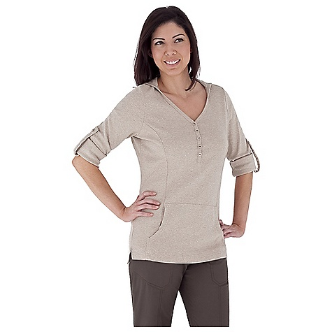 Entertainment Free Shipping. Royal Robbins Women's Kick Back Hoodie DECENT FEATURES of the Royal Robbins Women's Kick Back Hoodie UPF 50+ Henley button neck with hood Roll-up sleeve tabs Kangaroo pocket Tunic length The SPECS Natural fit Fabric: Kick Back 1x1 Rib Cotton - $54.95