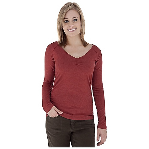 Entertainment Free Shipping. Royal Robbins Women's Essential Ruched L-S V-Neck Top DECENT FEATURES of the Royal Robbins Women's Essential Ruched Long Sleeve V-Neck Top UPF 50+ Ruched detail at sides The SPECS Trim fit Fabric: Stretch Jersey - $49.95