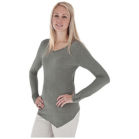 Entertainment Free Shipping. Royal Robbins Women's Nabru V-Neck Top DECENT FEATURES of the Royal Robbins Women's Nabru V-Neck Top Chest panel set on bias Sleeve with button cuff detail Asymmetric hem Hip length The SPECS Natural fit Fabric: Seaside Slub - $64.95