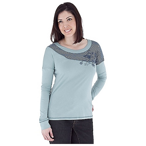 Entertainment Free Shipping. Royal Robbins Women's Nellie Novelty Top DECENT FEATURES of the Royal Robbins Women's Nellie Novelty Top Scoop neck Fitted dolman long sleeve Striped asymmetric yoke with screen print Straight hem Hip length The SPECS Natural fit Fabric: Organic Stripe Jersey - $57.95