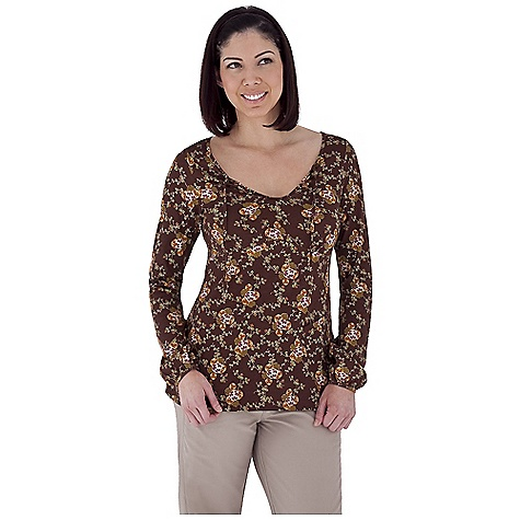 Entertainment Free Shipping. Royal Robbins Women's Nellie Top DECENT FEATURES of the Royal Robbins Women's Nellie Top Scoop neck with ties Fitted dolman sleeve Novelty pocket at hem Straight hem Hip length The SPECS Natural fit Fabric: Organic Jersey Print - $57.95