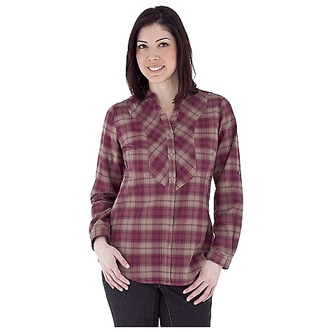 Entertainment Free Shipping. Royal Robbins Women's Prairie Plaid Top DECENT FEATURES of the Royal Robbins Women's Prairie Plaid Top Banded collar Bib front cut on bias Rotated shoulder seams Roll-up sleeve tabs Shirt tail hem Tunic length The SPECS Natural fit Fabric: Prairie Plaid - $59.95