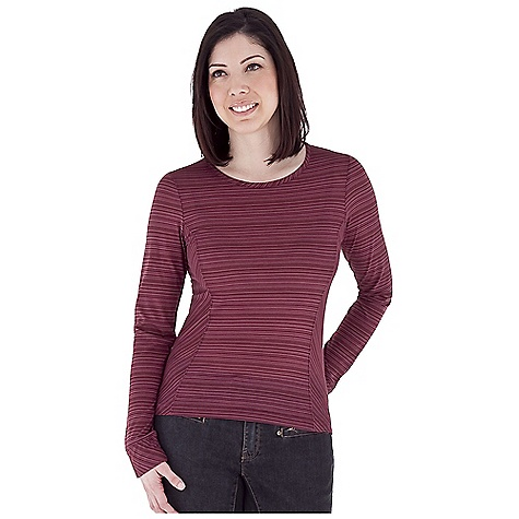 Entertainment Free Shipping. Royal Robbins Women's Sandstone Stripe Crew Top DECENT FEATURES of the Royal Robbins Women's Sandstone Stripe Crew Top Rotated side seams Crew neck Straight hem Bias-cut detailing Hip length The SPECS Trim fit Fabric: Dri-Release Sandstone Stripe - $57.95