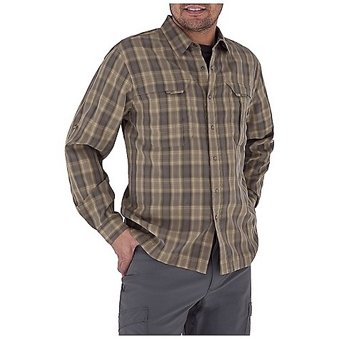 Entertainment Free Shipping. Royal Robbins Men's Morocco L-S Top DECENT FEATURES of the Royal Robbins Men's Morocco Long Sleeve Top UPF 50+ Sand washed finish Roll-up sleeve tabs Zip secured chest pocket Drop-in chest pockets with hook and loop closures Mitered hem The SPECS Traditional fit Fabric: 4 oz, Morocco Modal 59% Modal Rayon 41% Polyester - $69.95