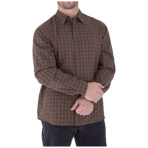 Entertainment Free Shipping. Royal Robbins Men's Piru Plaid L-S Top DECENT FEATURES of the Royal Robbins Men's Piru Plaid Long Sleeve Top UPF 50+ Sand washed finish Zip secured chest pocket Shirt tail hem The SPECS Traditional fit Fabric: 3.5 oz, Piru Plaid Modal 74% Modal Rayon 26% Polyester - $61.95