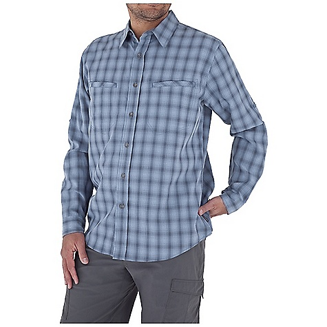 Entertainment Free Shipping. Royal Robbins Men's Sprocket L-S Top DECENT FEATURES of the Royal Robbins Men's Sprocket Long Sleeve Top UPF 35+ Roll-up sleeve tabs Zip secure chest pocket Chest pocket with hook and loop closure Shirt tail hem The SPECS Traditional fit Fabric: 4 oz, Sprocket Modal 50% Modal Rayon 50% Polyester - $63.95