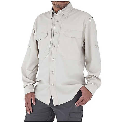 Entertainment Free Shipping. Royal Robbins Men's Expedition Light L-S Top DECENT FEATURES of the Royal Robbins Men's Expedition Light Long Sleeve Top Back ventilation Mesh lined yoke Hidden button down collar Roll-up sleeve tabs Dual secured document pockets Zip secured chest pocket Shirt tail hem The SPECS Relaxed fit Fabric: Light Expedition 2 oz 100% Polyester UPF 50+ - $69.95