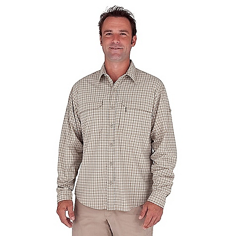 Entertainment Free Shipping. Royal Robbins Men's Performance Plaid L-S Top DECENT FEATURES of the Royal Robbins Men's Performance Plaid Long Sleeve Top Dri X-treme moisture wicking Zip secured chest pocket Chest pockets with hook and loop closure Back ventilation Mesh lined yoke Shirt tail hem The SPECS Relaxed fit Fabric: Discovery Lite Stretch 3 oz 93% Nylon / 7% Spandex UPF 30+ - $81.95