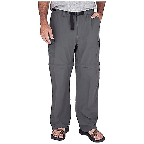 Entertainment Free Shipping. Royal Robbins Men's Zip N' Go Pant DECENT FEATURES of the Royal Robbins Men's Zip N' Go Pant Convertible Full elastic waist Web belt with quick release buckle Hook and loop secured pockets Hidden zip secured pocket Back patch pockets Convertible pocket/stuff sack attaches to back belt loops Zip off legs with hidden zippers Gusseted crotch and leg opening Side loop and button adjustment at hem The SPECS Relaxed fit Short Inseam: 8in. Available in extended inseams Fabric: 3-Ply Laundered Supplex 4 oz 100% Laundered Supplex Nylon UPF 50+ - $69.95