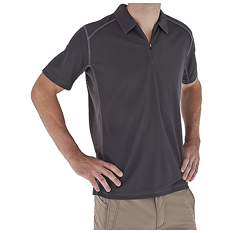 Entertainment Free Shipping. Royal Robbins Men's Dri-Release Base Polo DECENT FEATURES of the Royal Robbins Men's Dri-Release Base Polo Rotated side seams Straight hem 61/2in. zipper length The SPECS Relaxed fit Fabric: Dri-Release Base Waffle 5.5 oz 90% Polyester / 10% Tencel UPF 50+ - $54.95