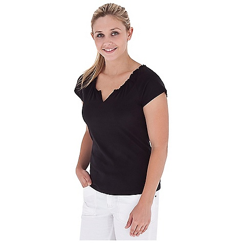 Entertainment On Sale. Royal Robbins Women's Tadmor Cap Sleeve Top DECENT FEATURES of the Royal Robbins Women's Tadmor Cap Sleeve Top Gathered neckline Raglan sleeve Straight hem The SPECS Regular fit Standard length Fabric: Organic Jersey 3.25 oz 100% Organic Cotton Garment washed - $31.47