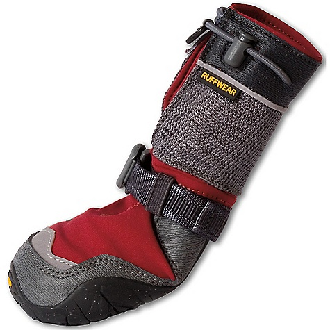 Ski Free Shipping. Ruffwear Barkn Boots Polar Trex DECENT FEATURES of the Ruffwear Barkn Boots Polar Trex Vibram Ice trek ice-specific sole compound with snow gripping lug pattern provides superb winter traction Three-layer laminated, soft-shell upper is DWR coated and is weather-resistant, wind-resistant, and breathable Cam buckle ankle strap and cord loop closure system stays closed in snow Extended gaiter height for added leg protection from elements and ski edges Low-light visibility with reflective trim The SPECS Paw Width: 2.0in. / 51 mm 2.25in. / 57 mm 2.5in. / 64 mm 2.75in. / 70 mm 3.0in. / 76 mm 3.25in. / 83 mm - $89.95